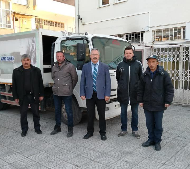 Çepni Belediyesi'ne bir çöp kamyonu geçici olarak hibe edilmiştir.